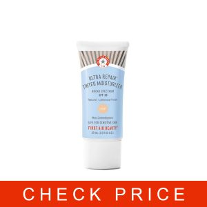 First Aid Beauty Ultra Repair Tinted Moisturizer with SPF 30, Colloidal Oatmeal and Hyaluronic Acid, 1.0 oz.