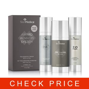 Skin Medica TNS Essential Serum, HA5 Hydrator, and Lytera Serum