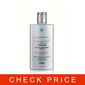 Skinceuticals UV Defense Broad Spectrum SPF 50 Sunscreen, Physical Fusion, 4.2 Fluid Ounce